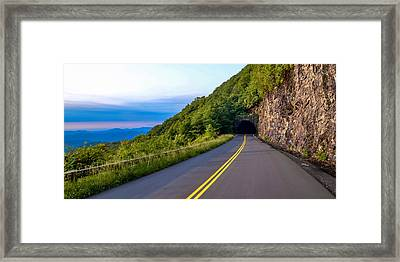 Through The Mountain Framed Print by Brian Young