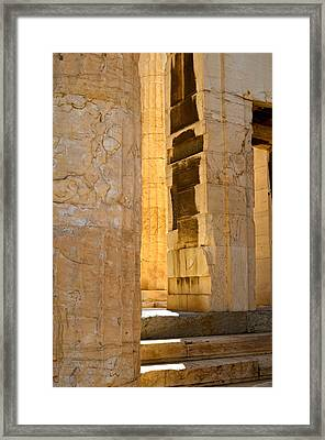 Through The Past Framed Print by Corinne Rhode