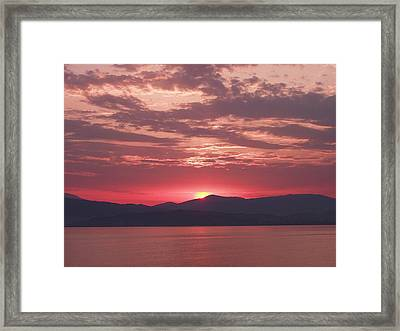 Through The Pink Haze Framed Print