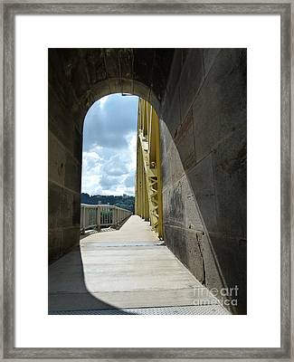 Through The Portal Framed Print
