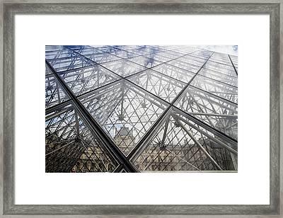 Through The Pyramid Framed Print by Georgia Fowler