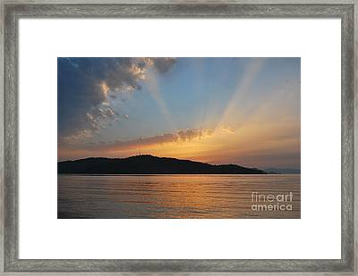 Through The Rays Framed Print