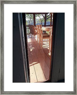 Through The Screen No 2 Framed Print by Lon Casler Bixby