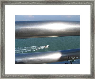 Through The Silver Rails Framed Print