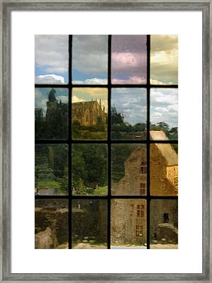 Through The Stained Glass Window Framed Print by RicardMN Photography