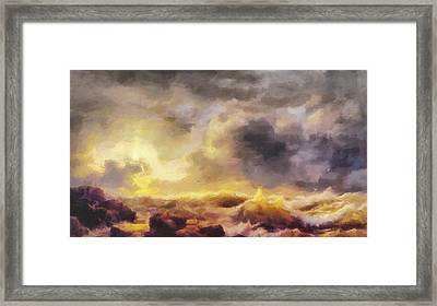 Through The Storm Framed Print by Dan Sproul