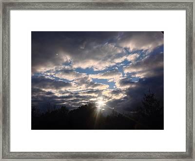 Through The Storm Framed Print by Daniel Jones