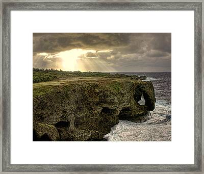 Through The Storm Framed Print by Karen Walzer