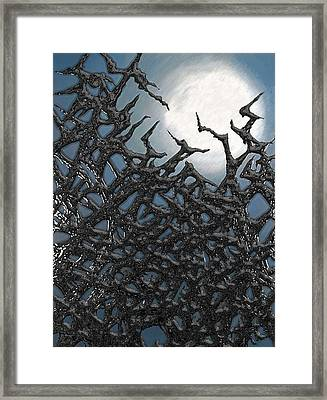 Through The Thicket Framed Print by Jason White