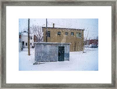 Through The Train Window Framed Print by Arkady Kunysz