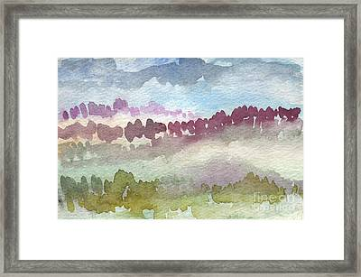 Through The Trees Framed Print by Linda Woods
