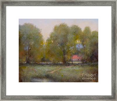 Through The Trees Framed Print by Lori  McNee