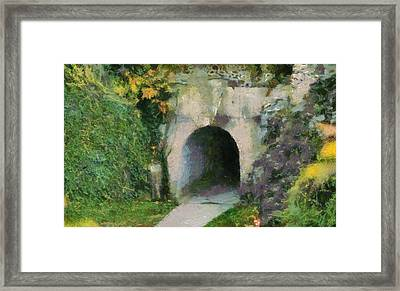 Through The Tunnel Framed Print by Dan Sproul