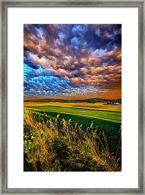 Through The Valley Framed Print by Phil Koch