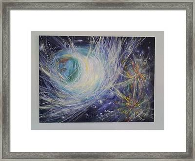 Through The Veil Framed Print