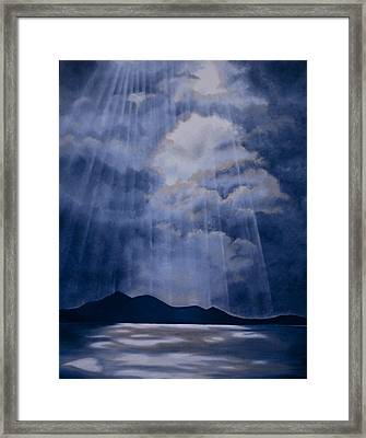 Through The Veil Framed Print by Jane Autry