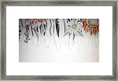Through The Vines Framed Print by Lori Thompson