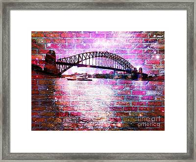 Sydney Harbour Through The Wall 1 Framed Print