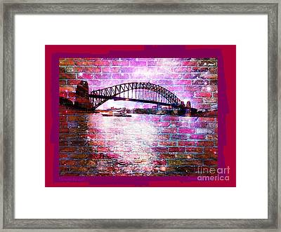 Through The Wall 2 Framed Print by Leanne Seymour