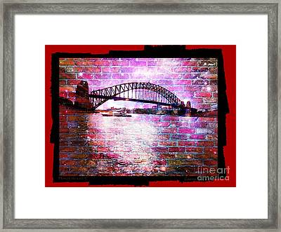 Through The Wall 3 Framed Print by Leanne Seymour