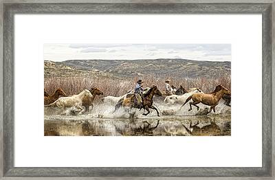 Through The Water I Framed Print by Joan Davis