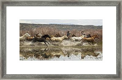 Through The Water II Framed Print by Joan Davis