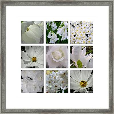 Through The White Picture Window Framed Print
