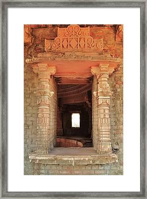 When Windows Become Art - Jain Temple - Amarkantak India Framed Print by Kim Bemis