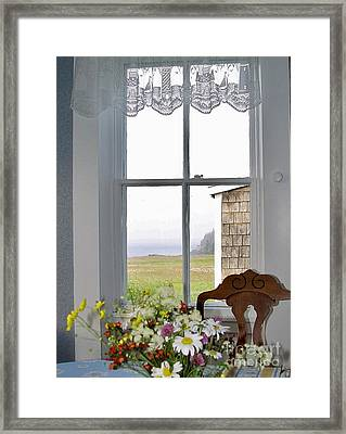 Through The Window Framed Print by Christopher Mace