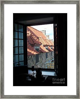 Framed Print featuring the photograph Through The Window by Marilyn Zalatan