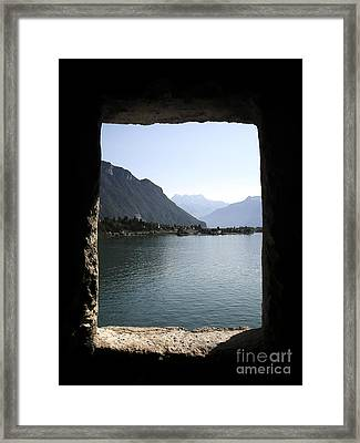 Through The Windows Framed Print