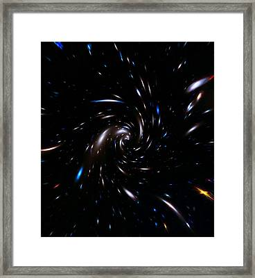 Through The Wormhole Framed Print