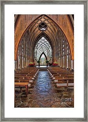 Through These Doors Framed Print