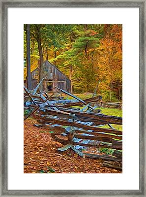 Through Time Framed Print by Joann Vitali