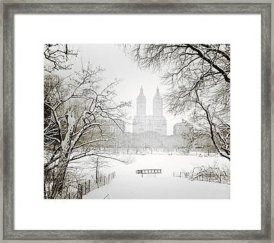 Through Winter Trees - Central Park - New York City Framed Print