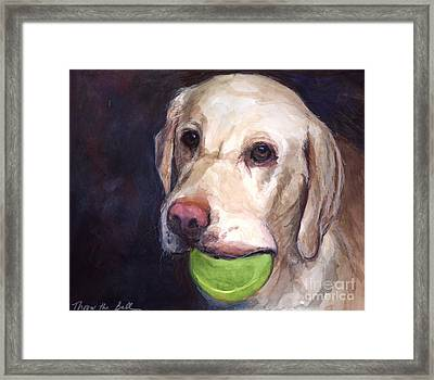 Throw The Ball Framed Print by Molly Poole