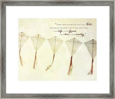 Throw Your Dreams Like A Kite Framed Print by Lisa Russo