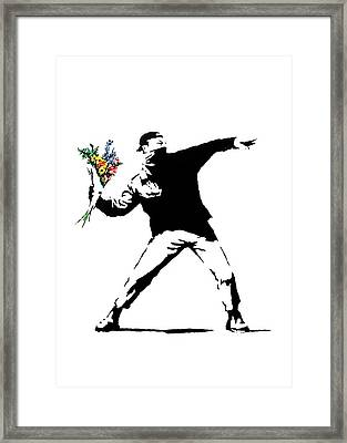 Throwing Love Framed Print by Munir Alawi