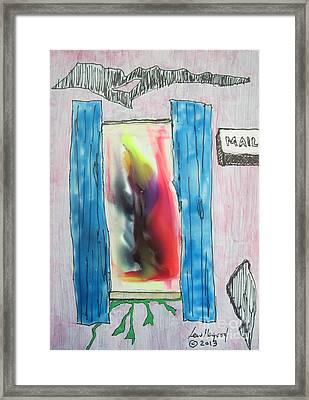 Thru A Med Window Framed Print