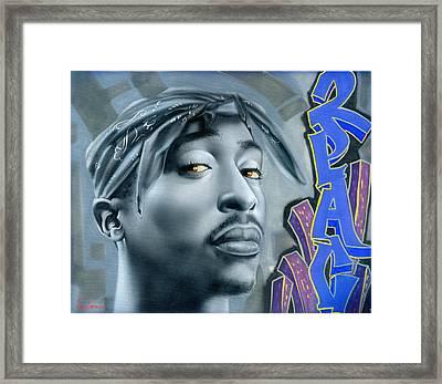Thug Life Framed Print by Luis  Navarro