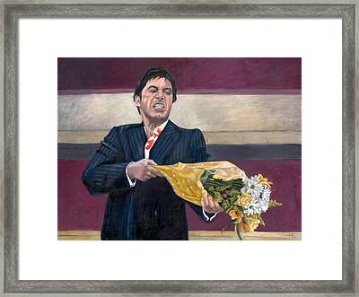 Thug With Flowers No. 2 Framed Print by Thomas Weeks