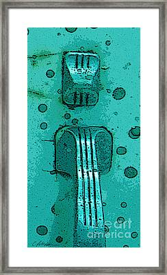 Thumb Slide For A Painter In Teal Framed Print by Cathy Peterson