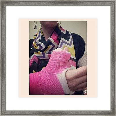 Thumbs Up Thursday! #pink #silpada Framed Print