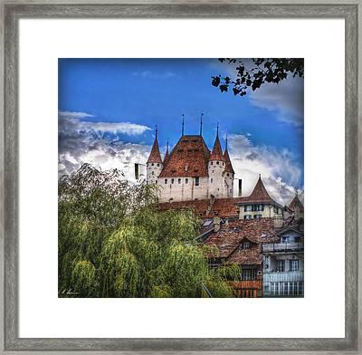 Thun Castle Framed Print by Hanny Heim