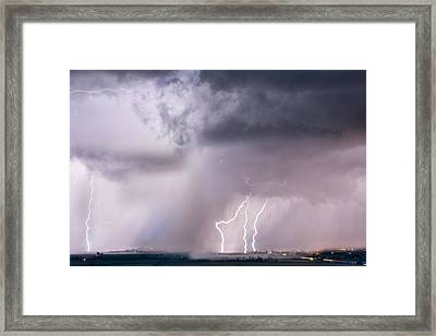 Thunder And Light Framed Print