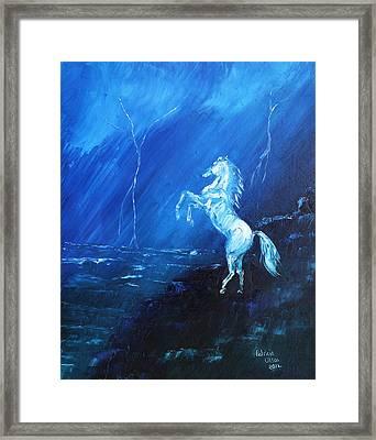 Thunder And Lightning Framed Print by Patricia Olson