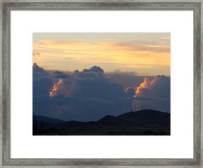 Thunder Bumpers Framed Print