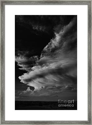 Framed Print featuring the photograph Thunder Cloud by Karen Slagle