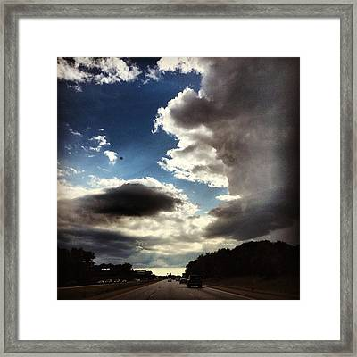 Thunder Clouds Framed Print
