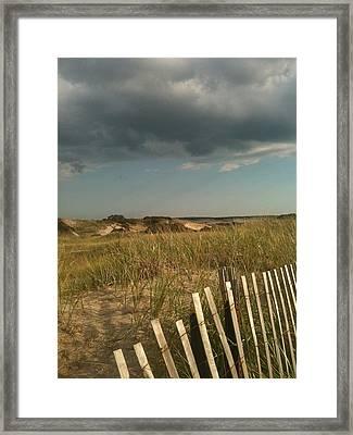 Thunder Dunes Framed Print by Tricia Nilsson